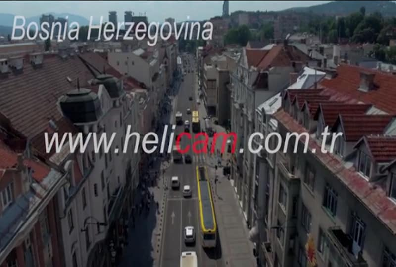 Bosna Havadan Stok Video